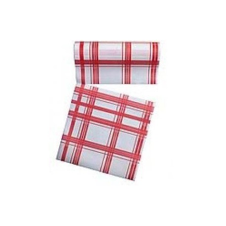 Rouleau de 30 serviettes jetables détachables rouges 23.6 cm x 23.6 cm