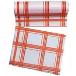 Rouleau de 30 serviettes jetables détachables orange 23.6 cm x 23.6 cm