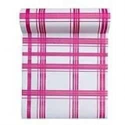 Rouleau 30 serviettes détachables en intissé fuchsia
