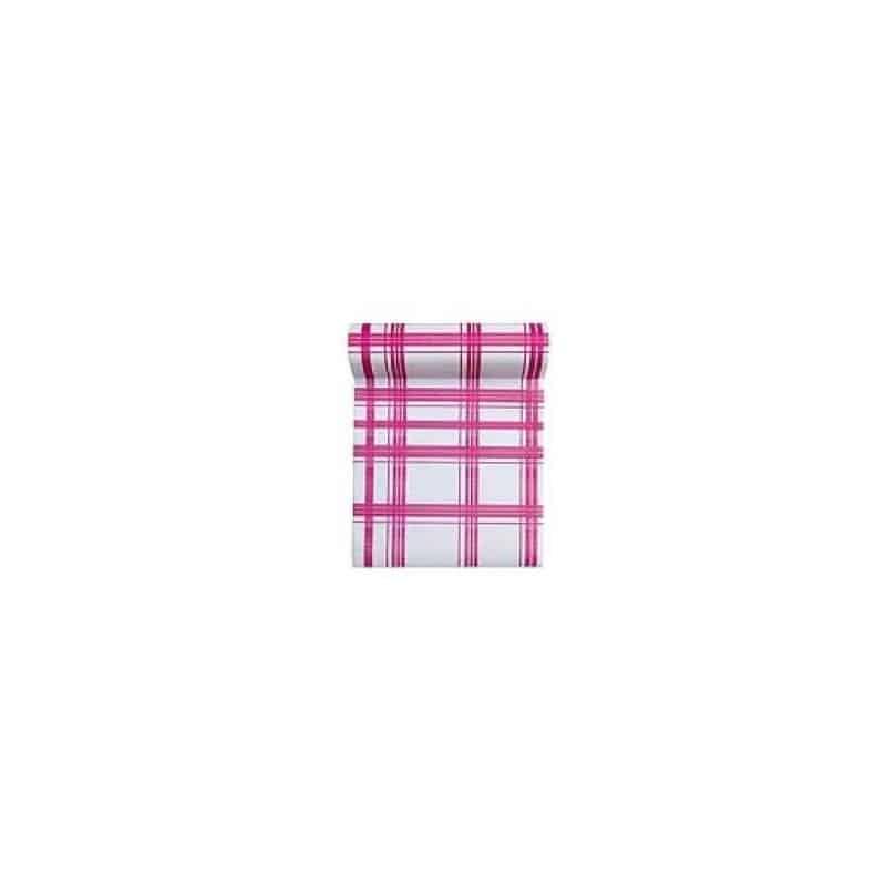 rouleau de 30 serviettes papier jetable d tachable fuchsia en intiss 23 6 x 23 6 cm. Black Bedroom Furniture Sets. Home Design Ideas