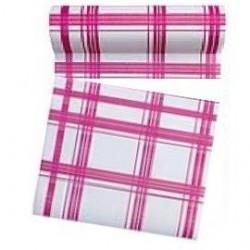 Rouleau de 30 serviettes papier jetable détachable Françoise Paviot fuchsia, en intissé 23.6 x 23.6 cm