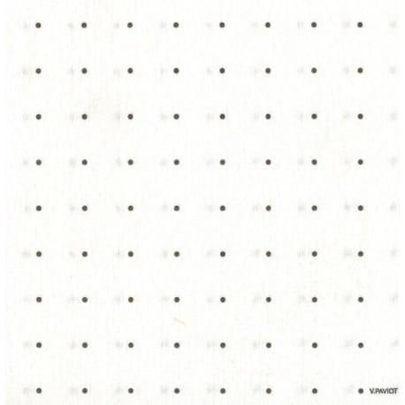 Serviette papier jetable Espace blanc argent, en intissé 40 cm par 20