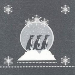 Serviette Noël papier jetable banquise, en intissé 40 cm par 20