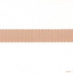 Serviette jetable en intissé blanches décor bandeau pailleté or 40 cm