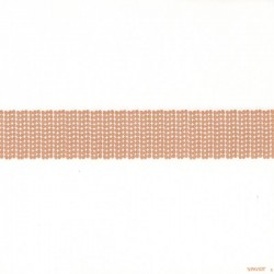 Serviette Noël papier jetable décor bandeau pailleté or, en intissé 40 cm par 20