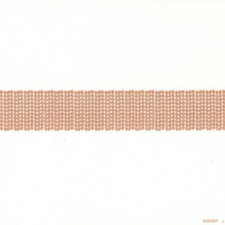 Serviette papier jetable décor bandeau pailleté or, en intissé 40 cm par 20