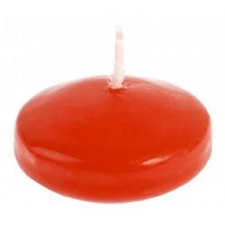 Bougies flottantes rouges par 4