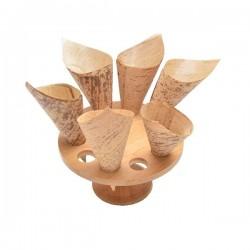 Verrines cornets en bambou en forme de cône par 100