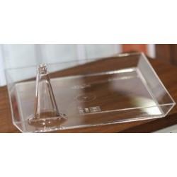 Soucoupe Lux By Starck carrée 11 X 11 cm cristal par 10