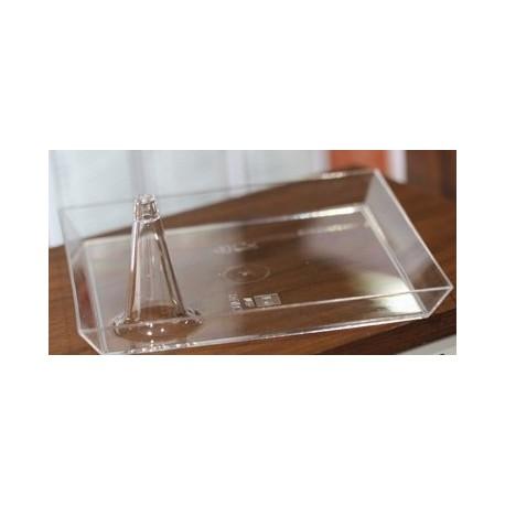 Soucoupe cristal Philippe Starck carrée 11cm par 10
