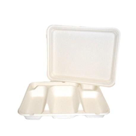 Couvercle pour plateau repas biodégradable 5 compartiments par 50