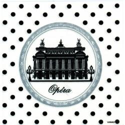 Serviette Paviot intissé motif Opéra de Paris 40 cm par 20