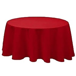 Nappe jetable ronde Ø 2.40m intissé airlaid rouge