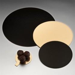 Carton pâtisserie 2 faces Or/Noir Ø 22 cm par 10