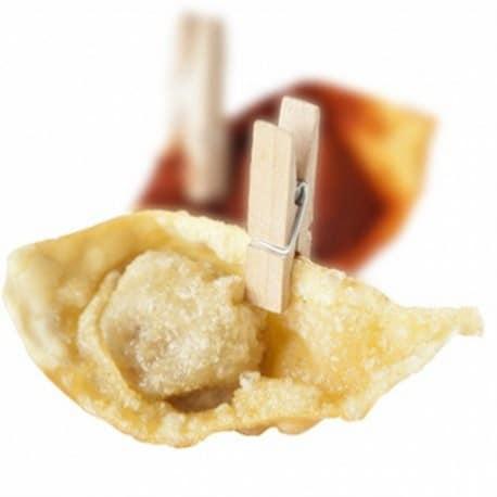 Mini pince mise en bouche naturel bambou 3.5 cm par 200
