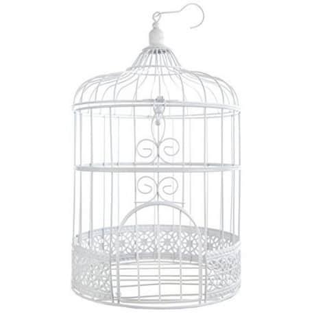 Cage à oiseaux tirelire blanche
