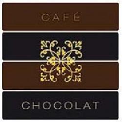 Serviette cocktail Françoise Paviot Café Chocolat 25x25 cm en intissé par 20