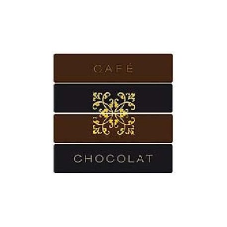 Serviette cocktail jetable intissé Café Chocolat 25x25 cm par 20