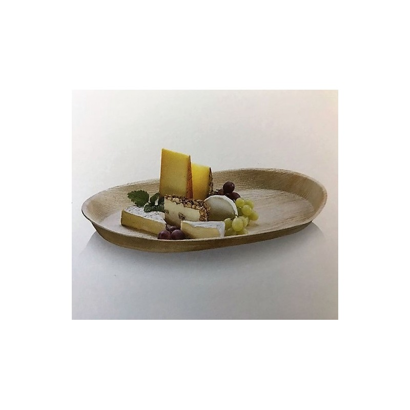 grand plateau oval 48 x 24 cm biod gradable en palmier par 10 vaisselle jetable cologique. Black Bedroom Furniture Sets. Home Design Ideas