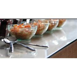Mini-cuillère jetable 10 cm argent métallisé par 100