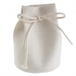 Contenant aumônière en coton blanc par 4