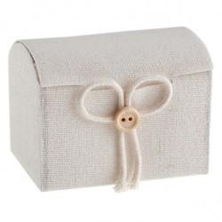 Contenant malle aux trésors coton blanc par 4