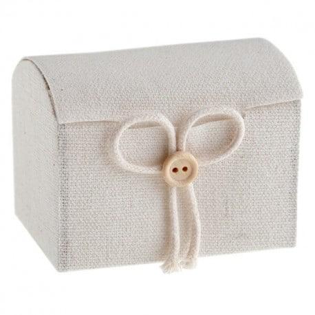 Malle aux trésors coton blanc par 4
