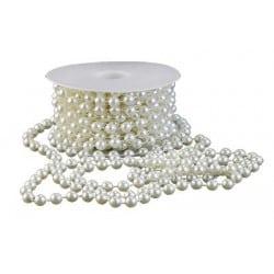 Guirlande décorative perles blanches nacrées 300 cm