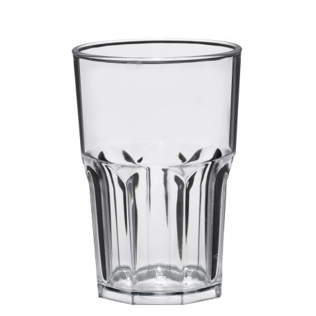Verres transparent incassable 42.5cl par 5