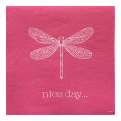 Serviette papier jetable Nice Day en intissé 40x40 cm par 20