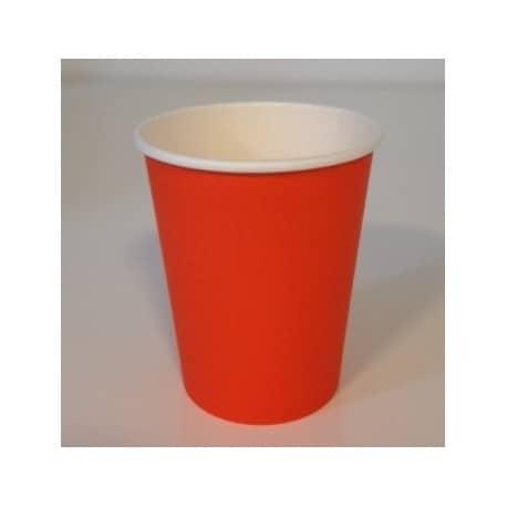 Gobelet uni en carton couleur orange 24 cl par 50