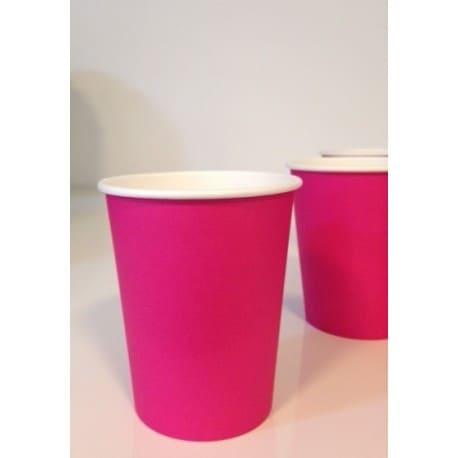 Gobelet uni en carton couleur pink 24 cl par 50