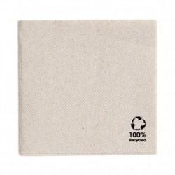 Serviette recyclée double point 33X33 cm naturel par 50