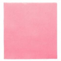 Serviette papier jetable biodégradable double point 33x33 cm Rose par 50