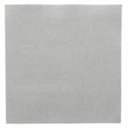 Serviette double point 33x33 cm grise par 50