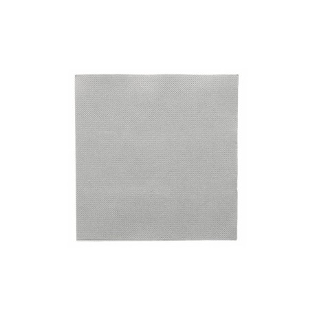 Serviette double point 33x33 cm grise par 50