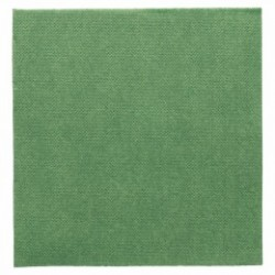 Serviette double point papier jetable biodégradable 33x33 cm vert jaguar par 50