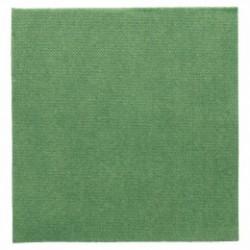 Serviette double point papier jetable biodégradable 33x33 cm vert jaguar par 50