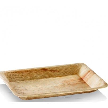 Assiette rectangulaire 16 x 24 cm biodégradable en palmier par 25