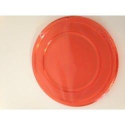Assiette rouge plastique jetable 30 cm par 4