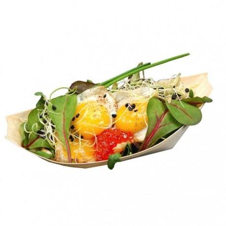 Barquette salade en bois biodégradable et compostable
