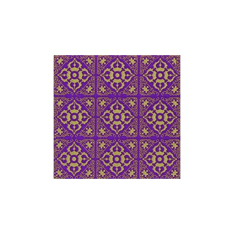 Superbe serviette de table Paviot violet-Or