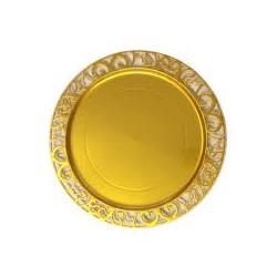 Sous assiette plastique rigide ronde 30 cm OR