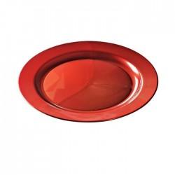 Assiette mariage jetable ronde 19 ou 24 cm Rouge Carmin par 12