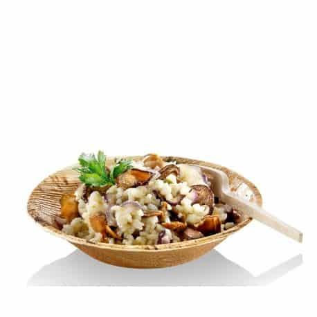 Assiette creuse en palmier 20 cm biodégradable
