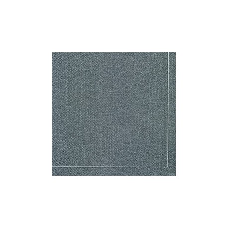 serviette cocktail gris chiné surpiqure blanche