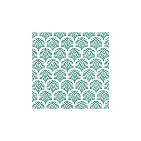 serviette de table 40 cm palmette vert