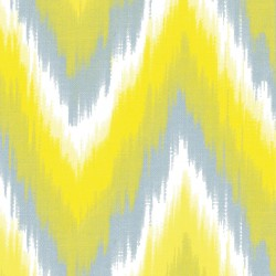 serviette cocktail Ikat jaune 25 cm
