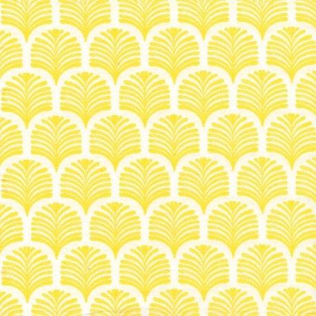 serviette cocktail palmette jaune