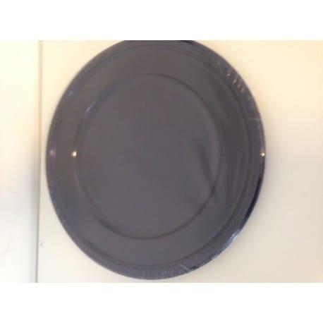 Assiette plastique jetable ronde 23 cm bleu nuit par 6
